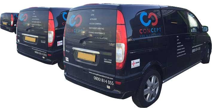 Concept Electrical fleet of vans